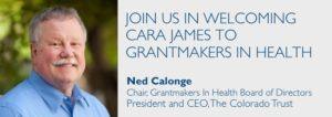 Ned Calonge: Join us in welcoming Cara James to GIH