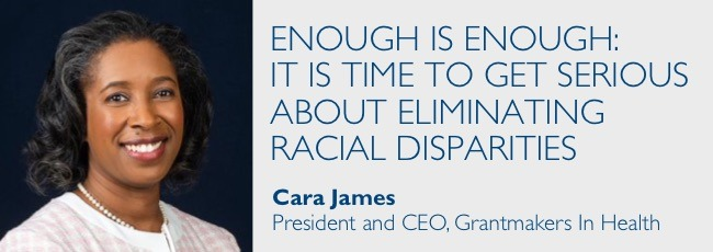 Enough is Enough: It is Time to Get Serious about Eliminating Racial Disparities by Cara James