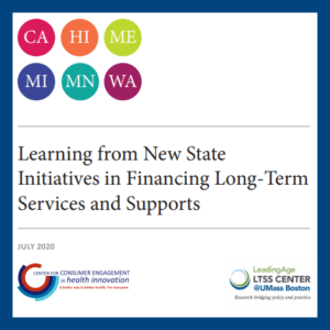 Learning from New State Initiatives in Financing Long-term services and supports