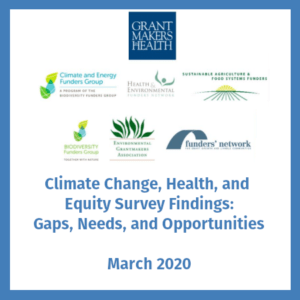Climate Change, Health, and Equity Survey Findings: Gaps, Needs, and Opportunities
