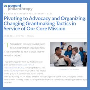pivoting to advocacy